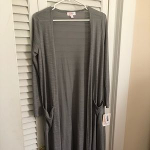 NWT Small Gray Lularoe Sarah Sweater w/pockets